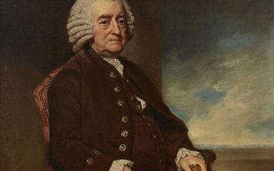 After George Romney, British 1734-1802- Portrait of John Smith; oil...
