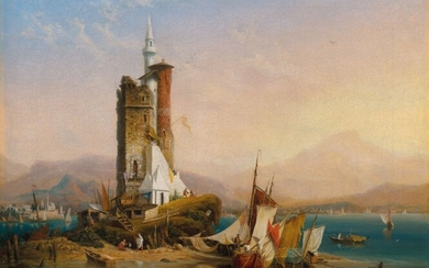 Ambroise-Louis Garneray (1783-1857), Phare de Mascate (Muscat, Oman)