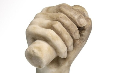 Ancient Roman Marble Hand Holding a Scroll