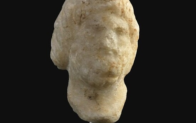 Ancient Roman Marble Head of Zeus- (1)