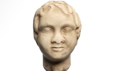 Ancient Roman Marble Head of a Child