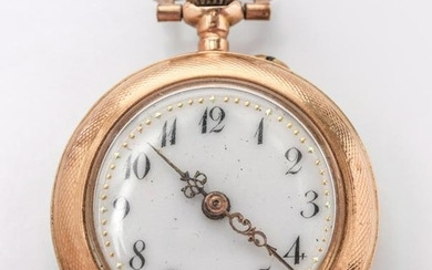 Antique 14K Yellow Gold Lady's Pocket Watch