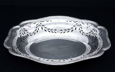 Bread basket, Centerpiece, Fruit basket - .950 silver - Alphonse Debain - France - Early 20th century