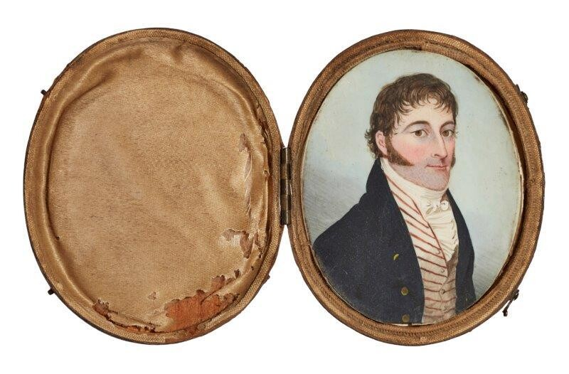 British/American Colonial School,late 18th/early 19th century- Portrait...
