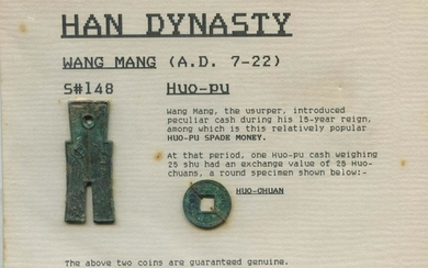CHINA Han Dynasty Wang Mang (AD 7-22) Huo-pu and Huo