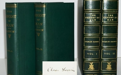 "Charles Darwin Signed ""The Descent of Man"", First Issue"