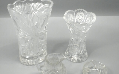 Collection of 3 Old Crystal Items