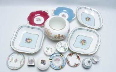 Collection of Ceramics Incl. Wedgwood, Limoges, and Coalport