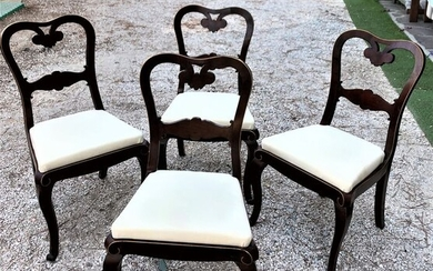 Dining room chair (4) - Charles X - Wood - Second half 19th century