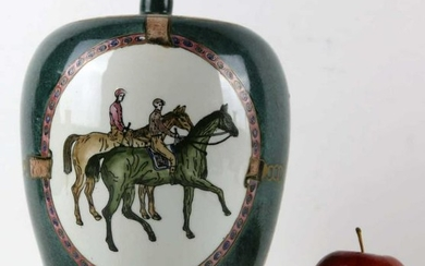 """EQUESTRIAN DECORATED 11"""" CHINESE GINGER JAR"""