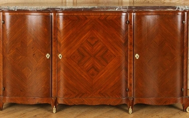 FRENCH LOUIS XV STYLE MARBLE TOP SIDEBOARD C.1940