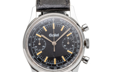 GALLET, CHRONOGRAPH, BLACK DIAL