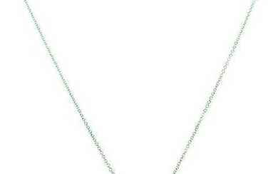 GLC 18k White Gold Enamel Diamond Pendant Chain