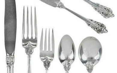 Grand Baroque Sterling Flatware, 94 pieces