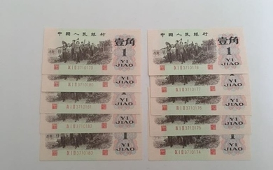Group of Ten Chinese Paper Money