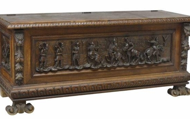 ITALIAN RENAISSANCE REVIVAL CARVED STORAGE CHEST