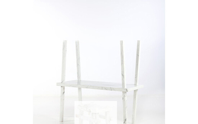 Isabelle Stanislas (born 1970) Bamboo Collection in partnership with Mineral Expertise Table - Unique piece Calacatta marble a...