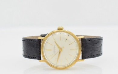 JUNGHANS 14k yellow gold chronometer wristwatch, Germany...