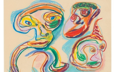 KAREL APPEL (1921-2006), Man met dieren (Man with animals)