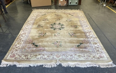 Large Chinese Embossed Rug (375 x 278cm)