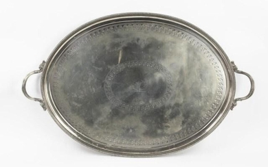 Large Silverplate Oval Serving Tray