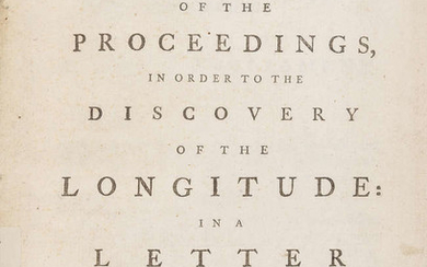 Longitude.- Harrison (John).- [Short (James)] An account of the proceedings, in order to the discovery of the longitude: In a letter to the Right Honourable ******, member of Parliament, first edition, Printed by T. and J.W. Pasham, in Black-Friars...