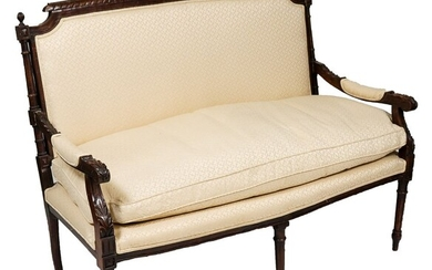 Louis XVI Manner Upholstered Canapé/Sofa