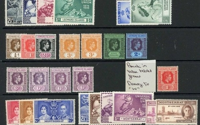MINT KGVI STOCK with a little duplication and values to 10/-...
