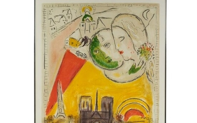 Marc Chagall Museum Surrealist Lithograph Poster