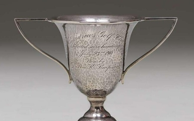 Marcus & Co Sterling Silver Two-Handled Golf Trophy