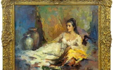 Marilyn Bendell Impressionist Figural Oil Painting