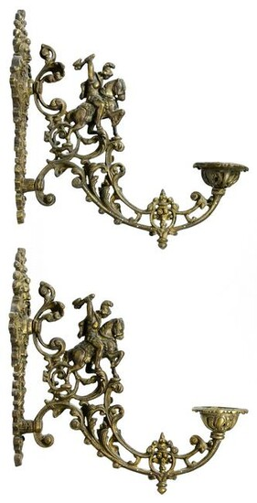 Neoclassical Style Bronze Wall Sconces