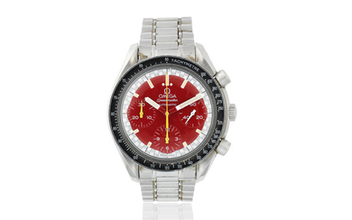 Omega. A stainless steel automatic chronograph bracelet watch