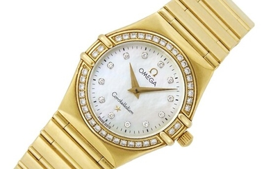 Omega Gold, Mother-of-Pearl and Diamond 'Constellation' Wristwatch