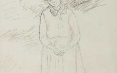 PAYSANNE (A DOUBLE-SIDED WORK), Camille Pissarro