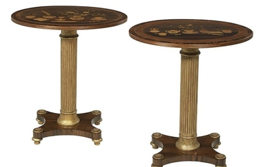 Pair of Neoclassical-Style Occasional Tables