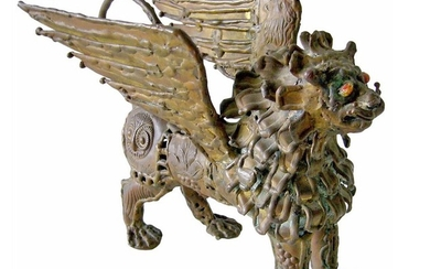 Pal Kepenyes Bronze Mid Century Modern Winged Griffin Sculpture