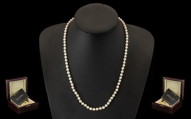 Pearl Necklace by Iliana. High lustre Japanese Akoya Round ...