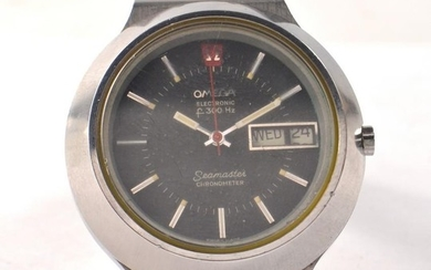 RARE c1972 SS OMEGA SEAMASTER CHRONOMETER DAY DATE ELECTRONI...