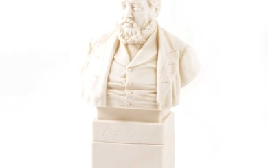 Robinson & Leadbetter parian bust, Charles Spurgeon, after John Adams Acton