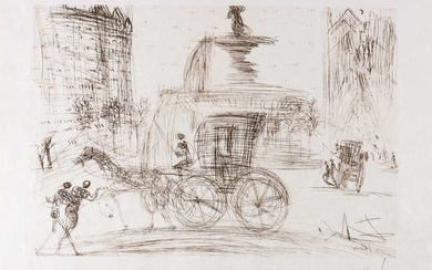 Salvador Dali (1904-1989) Plaza Fountain, New York City (Field 64-3-C; M&L 114b)