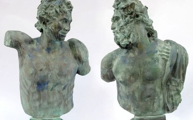Sculpture, Centaur, young and old (2) - Bronze - Late 20th century
