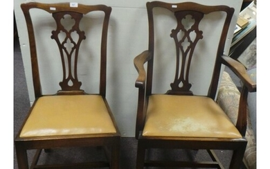 Set of 6x Dining Room Chairs comprising of 4 chairs and 2 ca...