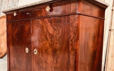 Sideboard, Chest of drawers - Restauration - Mahogany - First half 19th century