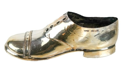 Sterling Silver-Clad Child's Shoe Form