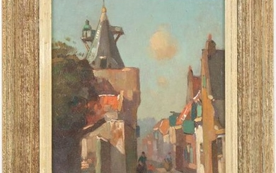 Street in Elburg, canvas 24.5 x 18.5 cm