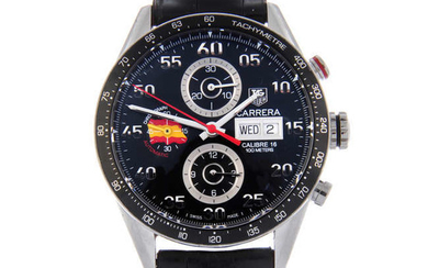 TAG HEUER - a limited edition gentleman's stainless steel Carrera Calibre 16 chronograph wrist watch.