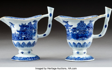 Two Chinese Blue and White Porcelain Pitchers