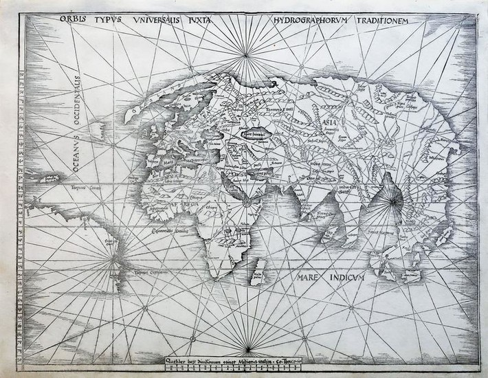 Waldseemuller World Map 1513
