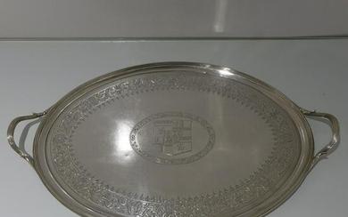 19th Century George III Antique Sterling Silver Oval